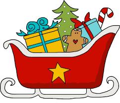 Santa Sleigh: Cute Santa Sleigh Clipart, JPG, Line Art, SVG