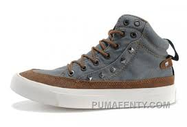 converse studded collar by john varvatos grey 1908 chuck taylor all star rivet high tops canvas brown leather shoes hot 67 00 puma fenty by