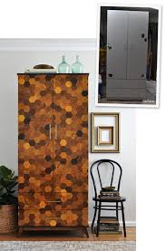 cool painted furniture. DIY Parquetry Laminate Armoire | The Painted Hive Cool Furniture