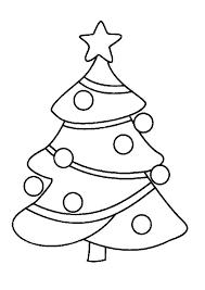 Kerstboom Met Kerstballen Kleurplaat