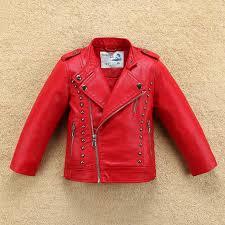rivet windbreaker boys girls leather jacket for fall spring girls motor coat er baby toddler children clothes kids jackets clearance kids padded jackets