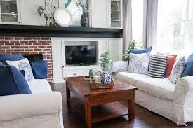 pottery barn slipcovered sofa