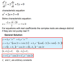 2nd order linear diffeial equations with constant coefficients examples geneous equation two complex roots