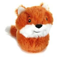 stuffed fox zip along baby safe
