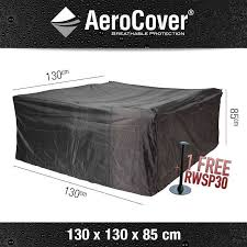 aerocover cover for a square patio furniture set 130 x 130 h 85 cm