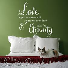 Love Wall Quotes Awesome Love Begins In A Moment Lasts An Eternity Vinyl Wall Decal