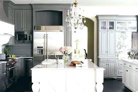 kitchens with dark brown cabinets. Brown Cabinets White Island Dark Gray Kitchen With Kitchens L
