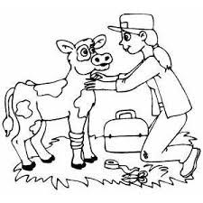In case you don't find what you are. Veterinarian Helping Wounded Cow Coloring Page Cow Coloring Pages Coloring Pages Animal Coloring Pages