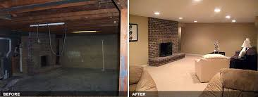 basement finishing before and after. complete basement remodel of an older home. before. after finishing before and after