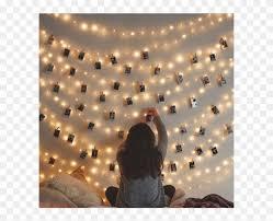 fairy lights photo wall clipart