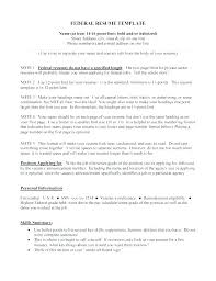 Federal Resume Format Letter Resume Collection