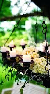 garden candle chandelier outdoor patio with over wooden treasures
