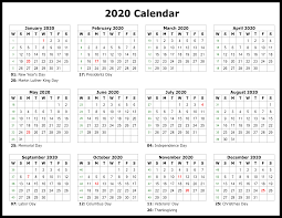 Printable Calendars For 2020 Printable Template Calendar