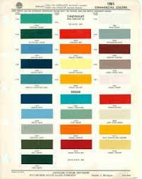 1961 Chevrolet Dodge Truck Paint Color Chart Ppg 61