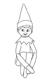 Coloring Pageself On A Shelf Christmas Elf On Shelf Coloring Page