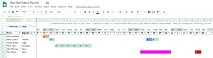 Free 2020 Employee Attendance Calendar Free Leave Tracker For Google Sheets Easy To Use