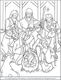 Fresh Coloring Nativity Scene Coloring Sheets Free Coloring Book