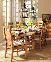 rustic round table stand decor vintage style dining table decor design ideas pottery barn dini on