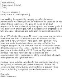 Medical Administrative Assistant Cover Letter Administrative ...