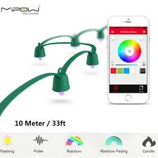 outdoor xmas lighting. aliexpresscom buy mipow playbulb 10m smart christmas led string outdoor xmas decorations party lighting colorful lights fairy rope light from reliable e