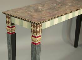 funky furniture and stuff. carved leg sofa table nodrawers aquaraspberry from suzanne fitch handpainted furniture funky and stuff
