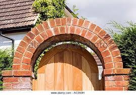 brick arch garden gate