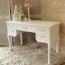 pays blanc range antique white large 5 drawer dressing table writing desk