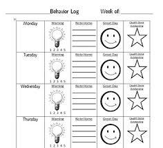Weekly Behavior Chart Weekly Behavior Chart