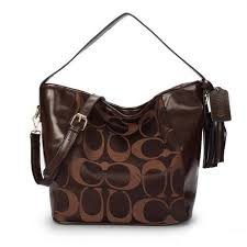 Savings And Discounts Coach Legacy In Signature Medium Coffee Shoulder Bags  OC8170