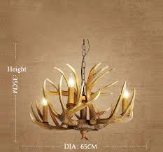 antique 4 cast faux deer antler chandeliers candle style pendant lights for kitchen island rustic
