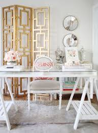white office decors. get the details to recreate this beautiful glam gold office for your own home we white decors
