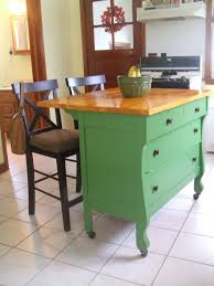 portable kitchen island ideas. Contemporary Ideas Kitchen  Small And Portable Island Ideas  Diy Cute Green  Idea Made Of Antique Dresser For Space Intended R