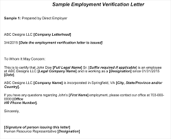 Employment Verification Letter Template Word Employment Verification Letter 8 Samples To Choose From