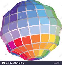 Spectrum Chart Geometric 3d Render Abstract Object Spectrum Color Palette