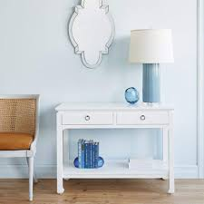 blue console table. Bungalow 5 - HARLOW CONSOLE TABLE In WHITE Blue Hand Home Console Table Y