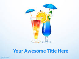 Free Drink Powerpoint Templates - Myfreeppt.com