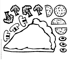 Small Picture Pizza Coloring Pages for childrens printable for free