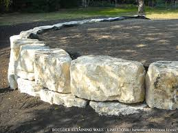 Small Picture Boulder Retaining Wall Limestone Retaining Walls Pinterest