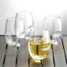 shatterproof stemless wine glasses shatterproof plastic stemless wine glass set of 4 crate and brel acrylic