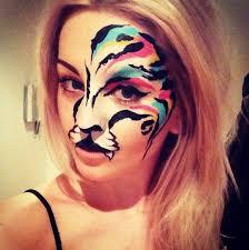 rainbow tiger face paint zoo project ibiza paint art hen ideas