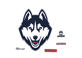 small uconn huskies logo teammate decal