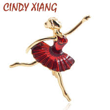 <b>CINDY XIANG</b> Rhinestone Vintage Girl Brooches for Women ...