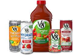 v8 the v is for vegetables