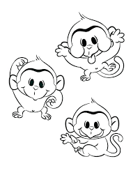 Monkeys Coloring Pages Cute Baby Monkey Of To Color Pag Auchmar