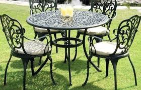 modern outdoor dining furniture. Metal Outdoor Dining Sets Modern Ideas Medium Size Garden  Set Black Cast Aluminium Furniture
