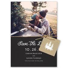 Stunning Winter Save The Dates Mywedding