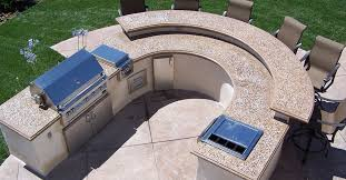 round countertop picture outdoor kitchens the green scene sworth ca