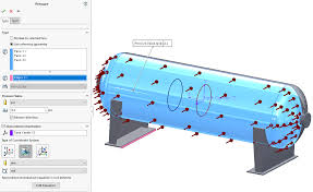 Solidworks Simulation Pressure Vessel Design Solidwoks Simulation Nonuniform Force And Pressure Loading