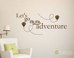 let s go on an adventure with hot air balloons nursery or bedroom decor home on wall art words for nursery with let s go on an adventure with hot air balloons nursery or bedroom