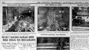 Image result for African-Americans were often the target of the rioters' violence.